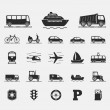 Transport Icons — Vettoriali Stock