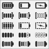 Battery Indicators — Stock Vector