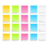 Colored Sticky Notes — Stock Vector