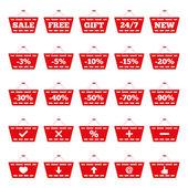 购物篮图标 — 图库矢量图片