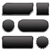 Black Buttons — Stock Vector