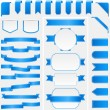 Blue Ribbons and Banners — Stock Vector #26728707