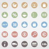 Shopping Icons — Stock Vector