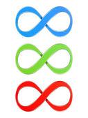 Infinity Symbols — Stock Vector