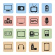 Electronics Icons — Stock vektor