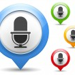 Stock Vector: Microphone icon
