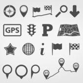 Navigasyon tasarım öğeleri — Stok Vektör