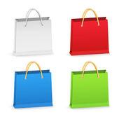 Papírové nákupní tašky — Stock vektor