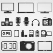 Electronics Icons — Stockvectorbeeld