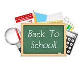 Torna al concetto di scuola — Vettoriale Stock
