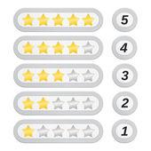 Rating Stars — Stock vektor