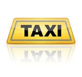 Segno di taxi — Vettoriale Stock