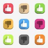 Thumbs up and thumbs down icons — Stock Vector