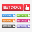 Best Choice Label — Stock Vector