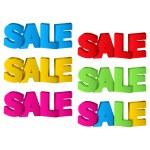 Sale, 3D Design — Stock Vector