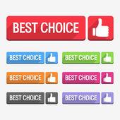 Najlepszy wybór etykiet — Wektor stockowy