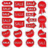 Autocollants de vente — Vecteur