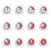 Icone cronometro — Vettoriale Stock