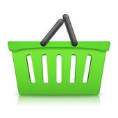Green Shopping Basket — Stock Vector