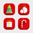 Flat Christmas Icons — Stock Vector #31218161