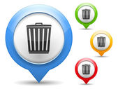 Trash Can Icon — Stock Vector