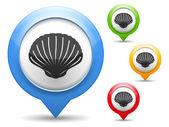 Seashell Icon — Stock Vector