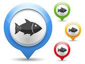 Fish Icon — Stock Vector