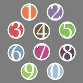 Numbers — Stock Vector