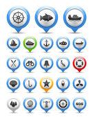 Nautische pictogram — Stockvector