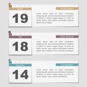 Bannières avec des pages de calendrier — Vecteur