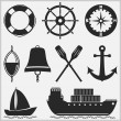 Nautical Icons — Stock Vector #33478893