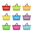 Shopping Baskets — Imagen vectorial