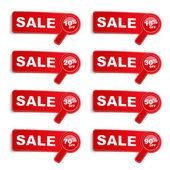 Nápisy oznamující výprodej — Stock vektor