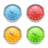 Colored Clocks — Vettoriale Stock