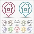 House Icons — Stock Vector