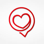 Red Heart Icon — Stock Vector