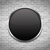 Black Round Board — Stock Vector