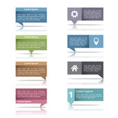 Speech Bubbles with Reflection — Vector de stock
