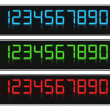 Vector de stock : Glowing Digital Numbers