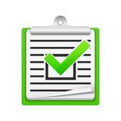 Kolla listan ikon — Stockvektor