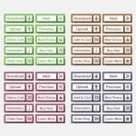 Flat Buttons — Stock Vector #38254357
