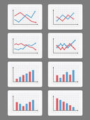 Graphs and Charts — Stock Vector