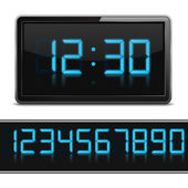 Digital Clock — Stock Vector