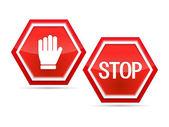 停车标志 — 图库矢量图片