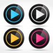 play buttons — Stock Vector