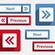 Stockvektor : Next and Previous Buttons