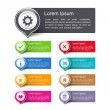Design Elements with Icons — Stock Vector