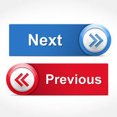 Next and Previous Buttons — Stock Vector