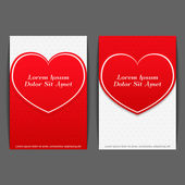 Banners with Heart — Vector de stock