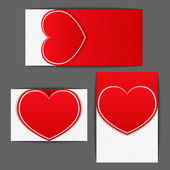 Labels with Heart — Stock Vector